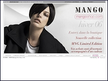 Aperçu du site Mango Shop - e-shop en ligne de Mango, catalogue collection Mango