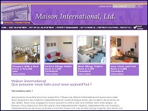 Aperçu du site Maison International - location appartements à New York
