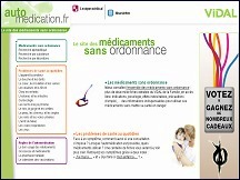 Aper�u du site Automedication.fr - guide de m�dicaments sans ordonnance