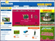 Aperçu du site Outiror - camion-magasin: articles bricolage, outillage, jardinage, loisirs