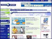 Aper�u du site Made in Sport - vente en ligne d'articles de sport, maillots