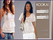 Aper�u du site Kookai.fr - la mode Kooka�, collection v�tements et pr�t-�-porter