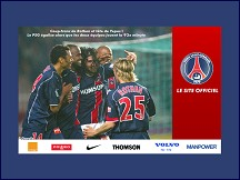Aperçu du site Site officiel du Paris Saint Germain