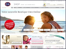 Aper�u du site C&A - magasin C&A en ligne, boutique de mode: v�tements, lingerie