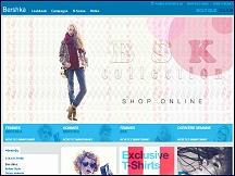 Aper�u du site Boutique Bershka en ligne - vente collection de v�tements Bershka