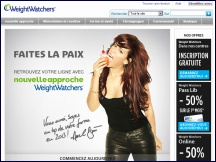 Aperçu du site Weight Watchers online - régime minceur, recettes Weight Watchers