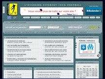 Aperçu du site Annuaire Football - Coupe de France, Coupe du Monde 2006, Champions League, UEFA