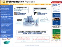 Aperçu du site La Documentation Francaise