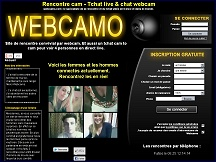 Aperçu du site Webcamo - chat webcam, rencontre coquine par webcam: Webcamo.com