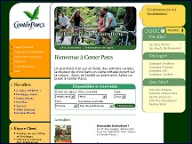 Aper�u du site Center Parcs - un grand bol d'air pur en Sologne, en Normandie ou dans l'Aisne