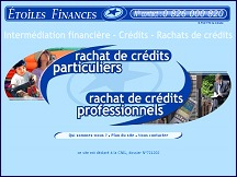 Aper�u du site Etoiles Finances - interm�diation financi�re, cr�dits et rachats de cr�dits