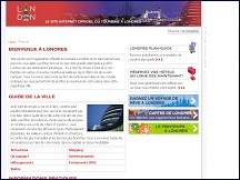 Aperçu du site Visit London - site officiel du tourisme à Londres en français