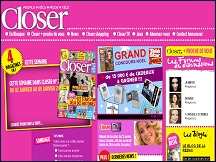 Aper�u du site Magazine Closer - t�l�, people, c�l�brit�s: �dition Closer en ligne