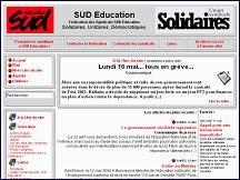 Aperçu du site Syndicat SUD Education