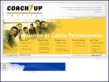 Aperçu du site Coach-Up Institut - formations pour devenir coach professionnel