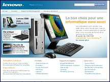 Aper�u du site Lenovo France - vente ordinateurs portables ThinkPad IBM Lenovo